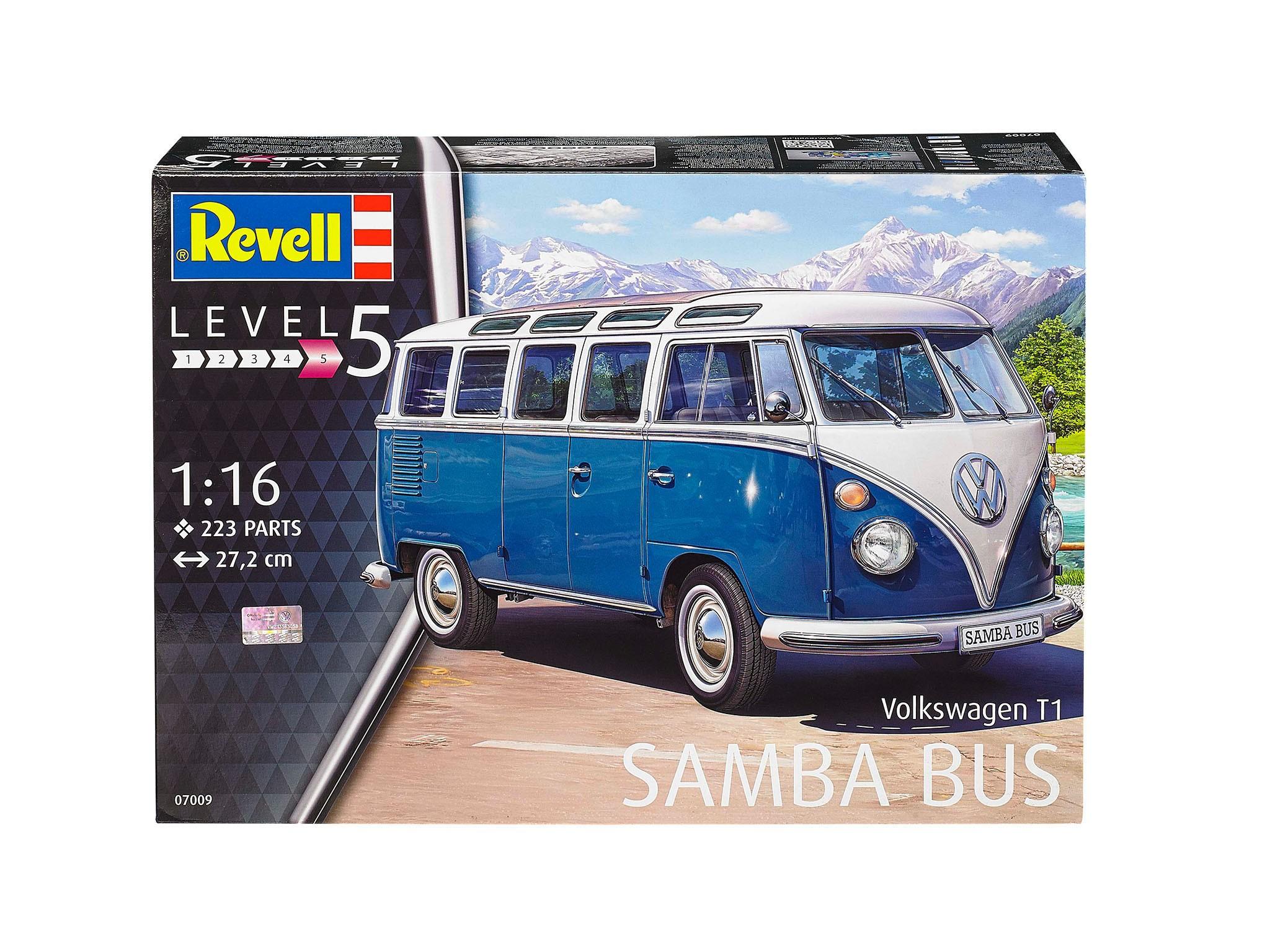 VW T1 Sambabus weiß-blau