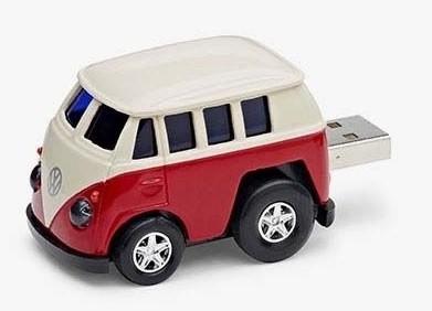 VW T1 Kombi rot/weiss USB Stick 1GB